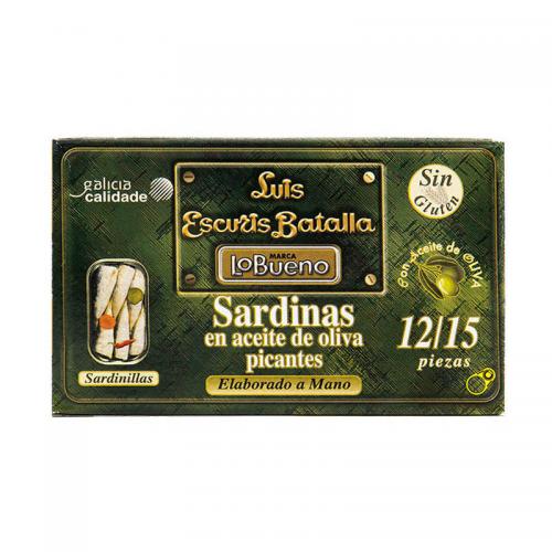Sardinillas picantes en aceite de oliva 12/15 115gr