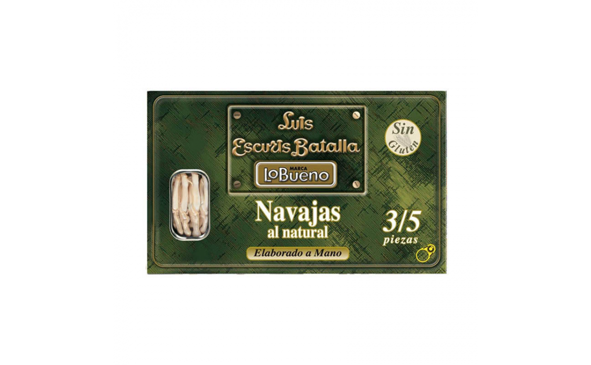 Navajas Luis Escuris Batalla 3/5 al natural 120gr.