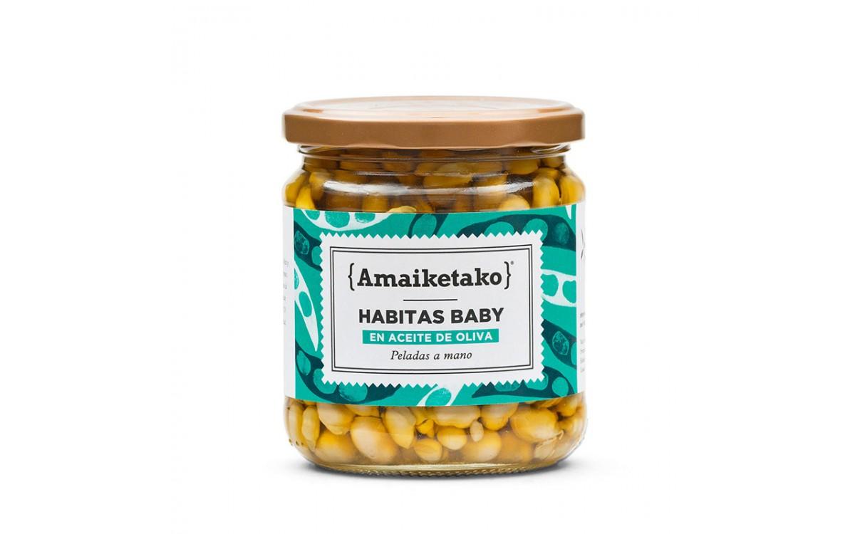 Habitas baby en aceite de oliva