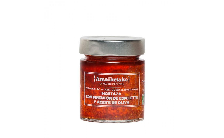 Mostaza Bio con Pimentón de Espelette y Aceite de Oliva