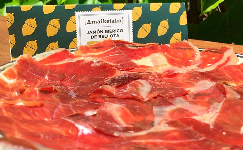 Jamón ibérico de bellota cortado a mano Valle de Los Pedroches 80gr